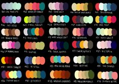 Hello All! As my gift to you this lovely holiday season, I have made 60 new palettes and named them all after some great songs. Sooooooo, here is my updated Palette Challenge! Palette Art, Colour Pallette, Color Palate, Colour Schemes, Color Combos, Color Patterns, Design Lounge, Color Palette Challenge, Color Psychology