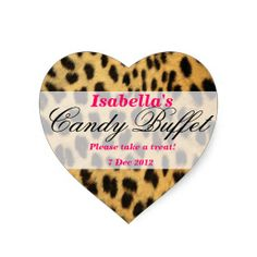 >>>Hello          leopard print Candy Buffet Sticker           leopard print Candy Buffet Sticker you will get best price offer lowest prices or diccount couponeHow to          leopard print Candy Buffet Sticker Here a great deal...Cleck Hot Deals >>> http://www.zazzle.com/leopard_print_candy_buffet_sticker-217235071980686913?rf=238627982471231924&zbar=1&tc=terrest
