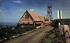 View of the original Inn with the viewing tower. Windham New York, Point Lookout, Catskill Mountains, Sweet Home, Chrome, Tower, Journey, Cabin, History