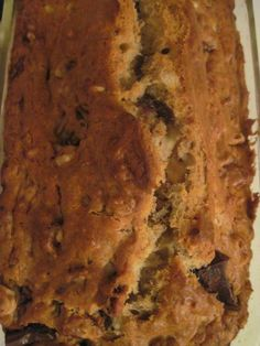 The Best Banana Chocolate Nut Bread! So moist and amazing!