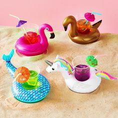 Thanks, whoever invented drink floaties! Shop drink floats and inflatables at Kohl's. Blue Candles, Floating Candles, Popular Pool Floats, Drink Floaties, Cocktail Videos, Adult Party Themes, Party Eyes, Pool Party Decorations, Cement Crafts
