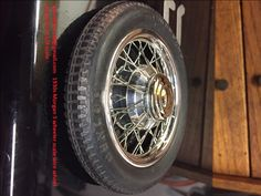1/8 scale Tether car scale model wire wheel for a Morgan 3 wheeler car scratch built. Chris Garcia