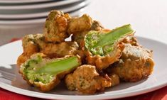 Brócolis empanados Mole, Good Food, Yummy Food, Tandoori Chicken, Carne, Cauliflower, Food And Drink, Appetizers, Cooking Recipes