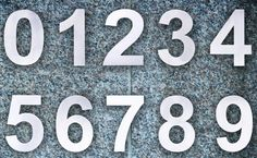 Our Por Modern House Numbers And Letters Are Now Available In Extra Large 8 Size