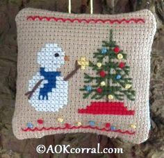 Cross Stitch Christmas Tree Snowman