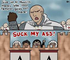 Assassins Creed VS the Templars Assassins Creed Comic, Assassins Creed Black Flag, Dark Souls, Skyrim, Assasing Creed, Sherlock, Templer, Fandoms, Nerd Jokes