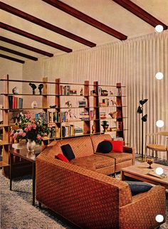 Fantastic room divider - Mid Century Modern, 1956 edition, Better Homes & Gardens Decorating Book.