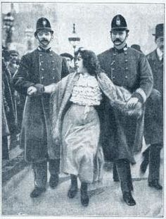 Suffragettes battle for woman to get the vote and get arrested in London