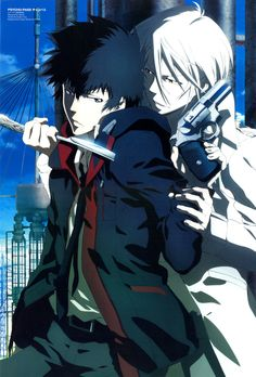 Makishima Shougo and Kougami Shinya