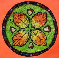 Radial Symmetry Leaves, wax resist?