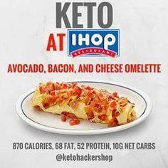 Keto at IHOP. Keto tips and tricks. Diet Plan Menu, Keto Meal Plan, Meal Prep, Food Prep, Keto Fast Food Options, Keto Restaurant, Restaurant Ideas, Cena Keto, Pancake