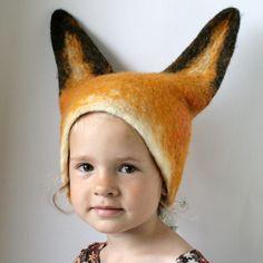 Sweet felted fox hat