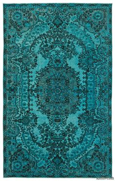 K0015859 Hand Carved Over-Dyed Rug | Kilim Rugs, Overdyed Vintage Rugs…