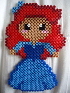 Ariel in Human Form perler bead by *TsukiHimeChii on deviantART