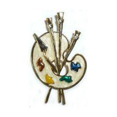 Cream Enamel Artist Palette Pin Goldfinger. Save 64 Off!. $8.95. Cream Enamel Artist Palette Pin