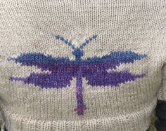 Knitted Dragonfly (shrug).