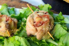Rotolini di tacchino ripieno al forno con salame, ricetta secondo, facile, veloce, senza uova, per pranzo, cena, antipasto sfizioso, involtini semplici, idea per bambini