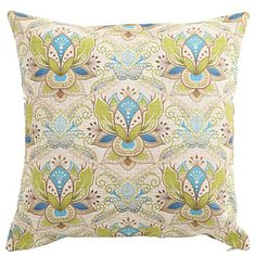 """Createforlife® 18"""" Colorful Indian Floral Printed Decorative Cotton Linen Square Pillow Case Cushion Cover  – USD $ 14.99"""
