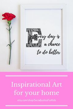 These exclusive designs feature hand-drawn artwork. Price includes all 5 variations. Choose your favorite or display them all. #inspirationalquote #artquote #wallart