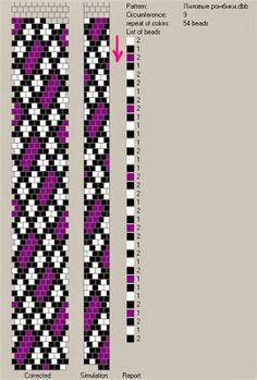 9 around tubular bead crochet rope pattern. Crochet Bracelet Pattern, Loom Bracelet Patterns, Crochet Beaded Bracelets, Bead Crochet Patterns, Bead Crochet Rope, Bead Loom Bracelets, Beaded Jewelry Patterns, Crochet Designs, Beading Patterns