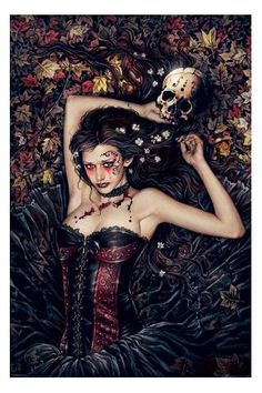 "Victoria Frances, ""Skull Girl"", Regular Poster Print, 24"" x 36"""