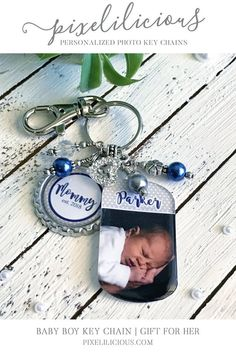 Gift For Mom Keychain Women Personalized Picture Grandma Custom Purse Charm Stocking Stuffer Gifts Her