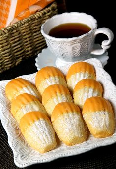 Orange Madeleine Cookies / Orange Bliss Pekoe Tea  by IrishMomLuvs2Bake