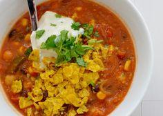 i eat vegan: Tortilla Soup with Homemade Soy Yoghurt #MexicanVeganFood #LiquidNachos #whatveganseat