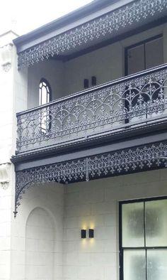 Aluminium Balustrade Installation Instructions by Chatterton Lacework Aluminium Balustrades, Aluminum Handrail, Kerala Architecture, Iron Balcony, House Elevation, Balcony Design, Victorian House, Facade House, Installation Instructions