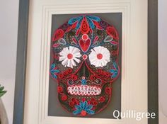 Hey, I found this really awesome Etsy listing at https://www.etsy.com/uk/listing/268823832/quilled-sugar-skull-calavera