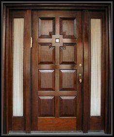 Ideas for wooden glass door design window Wooden Glass Door, Wooden Front Door Design, Wooden Sliding Doors, Wood Entry Doors, Wooden Windows, Glass Doors, Door Design Interior, Home Design, Window Design