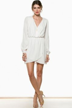 Cecelia Wrap Dress in Coconut