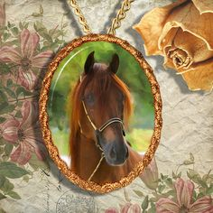 Chestnut Horse Warmblood Horse Jewelry by NobilityCatsandPets, $34.90----I think these would be cooler if of your horse.....