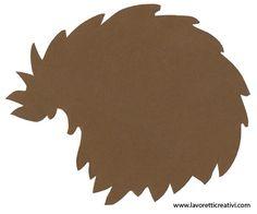 Fall decorations Riccio on cardboard in autumn Hedgehog Craft, Woodland Forest, Printable Crafts, Forest Animals, Bat Signal, Felt Crafts, Superhero Logos, Wool Felt, Techno
