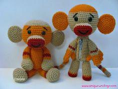 Sock Monkey Free Crochet Pattern ~ free pattern