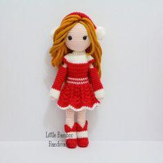 Chloe The Red Dress Girl Amigurumi Pattern