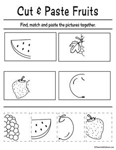FREE printable cut and paste worksheets for preschool FREE printable cut and paste worksheets for preschool,Lernen im Kiga Fun cut and paste worksheets for preschool FREE printable. Perfect for fine motor skills and preschool. Preschool Cutting Practice, Cutting Activities For Kids, Preschool Homework, Homework For Preschoolers, Cutting Practice Sheets, Kindergarten, Aba Therapy Activities, Preschool Learning Activities, Free Preschool