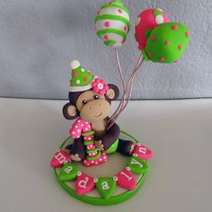 LARGE Monkey Custom Cake Topper for Birthday or Baby Shower
