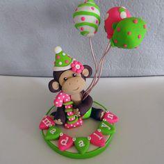 LARGE Monkey Custom Cake Topper for Birthday or Baby Shower