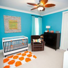 Cool colors for a baby boys room
