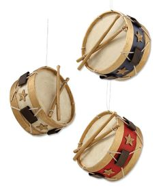 Americana Drum Ornaments | Bethany Lowe 4th of July
