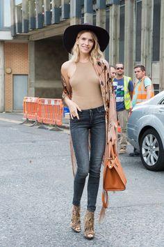 Street fashion: London Fashion Week wiosna-lato 2015, fot. Imaxtree