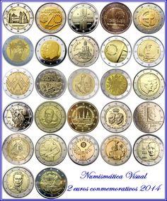 Euros Conmemorativos 2014 Piece De 2 Euros, Euro Coins, Valuable Coins, Coin Values, Commemorative Coins, Money In The Bank, Old Coins, Coin Collecting, Postage Stamps