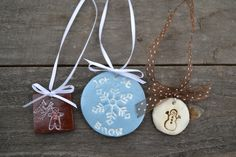 Potlucks on the Porch: Clay Stamped Christmas Ornaments, Charms, and Gift Tags