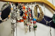 Use a hanger for necklaces!