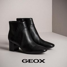 Άνετα, δερμάτινα, stylish ankle boots Geox! Bootie Boots, Ankle Boots, Fall Winter, Autumn, Smart Casual, Every Woman, Booty, Stylish, Shoes
