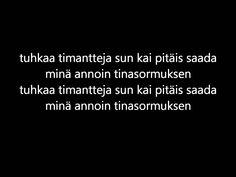 Janne Hurme-Tinasormus (lyrics)