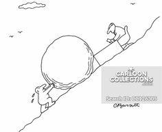 Business Sisyphus Political Cartoons, Funny Cartoons, Business Cartoons, Powerpoint Presentations, New Yorker Cartoons, Business Presentation, Politics, Humor, Comics