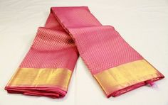 Rose Pink Brocade Pure Kanchipuram Silk Saree | Temple Of Kanchi Sarees, Temple Jewellery, Pure Silk, Kanchipuram