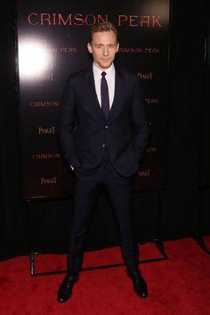 Tom Hiddleston wearing Alexander McQueen.